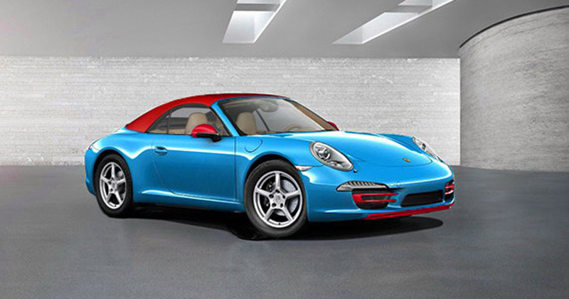 after 50 Years Edition version of 911 an unusual 911 Blu Edition has come
