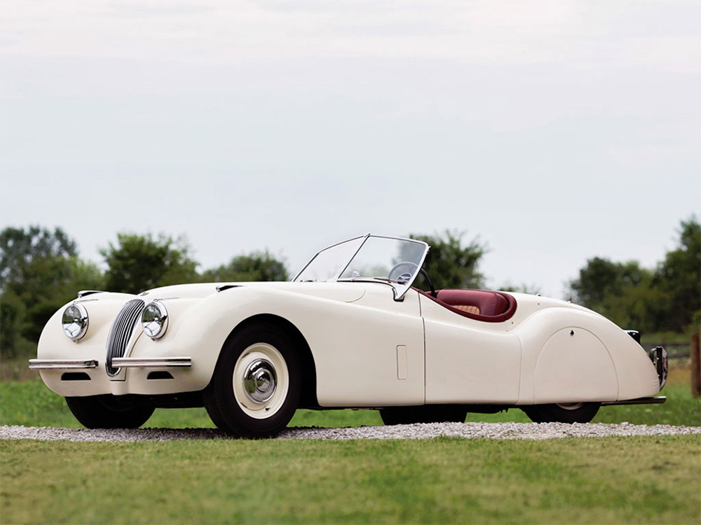 a stunning 1951 Jaguar XK120 Roadster will be the highlight of the auction