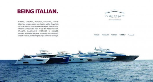 The new Azimut Yachts advertising campaign pays tribute to authentic Made in Italy quality