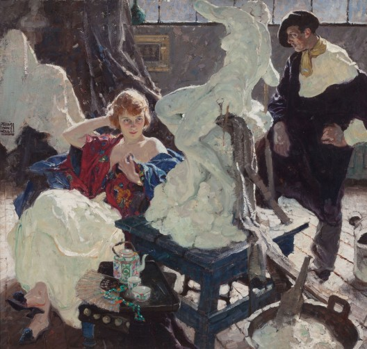 Dean-Cornwell-The-Artist-and-His-Model