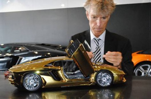The $7.5 million Gold Lamborghini Aventador is coming to UAE