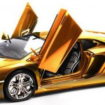 $7,500,000 Gold Lamborghini Aventador LP 700-4 By Robert Gulpen