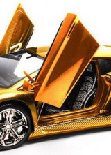 $7,500,000 Gold Lamborghini Aventador LP 700-4 By Robert Gulpen
