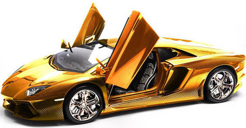 The $7.5 million Gold Lamborghini Aventador is coming to UAE