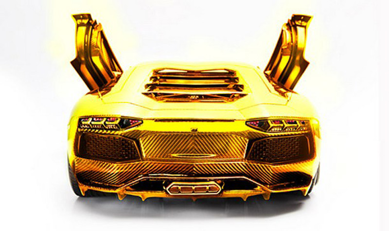7 500 000 Gold Lamborghini Aventador Lp 700 4 By Robert Gulpen