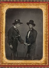 Half-Plate-Daguerreotype-Featuring-Two-Anglos-Disguised-as-Vaqueros