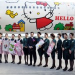 Hello Kitty Jet on Maiden Voyage to Los Angeles