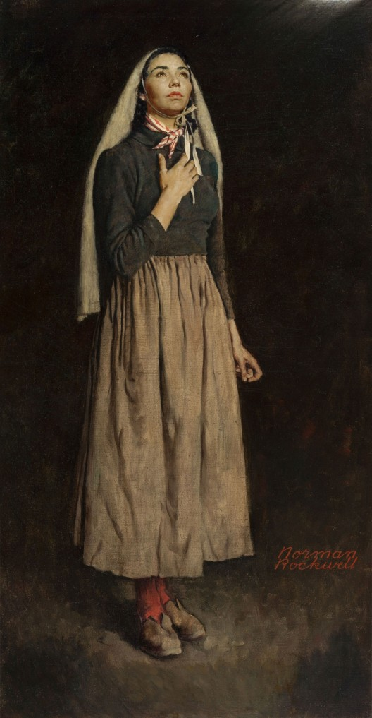 Norman-Rockwell-The-Song-of-Bernadette