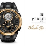 Perrelet Black And Gold Tourbillon Watch
