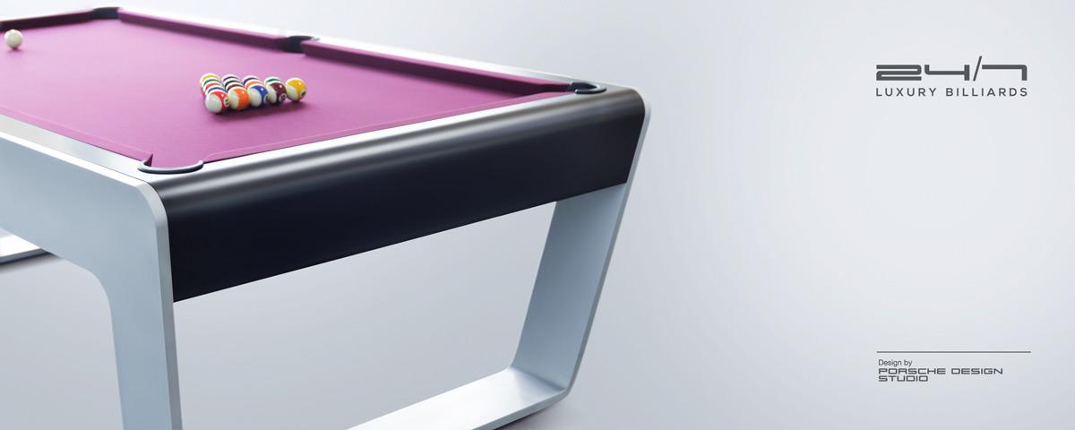 24/7 Billiard Table Designed by Porsche
