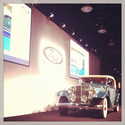 Yesterday RM Auctions has offered some of the world's finest motor cars at Hershey auction