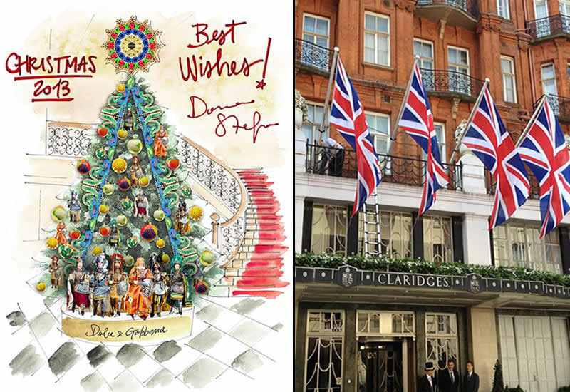 Dolce & Gabbana design 2013 Christmas Tree for Claridge's London
