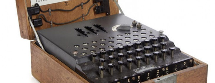 Extremely rare WWII German Enigma Enciphering Machine on sale at Bonhams
