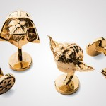 Star Wars Gold Darth Vader and Yoda Cufflinks at Neiman Marcus