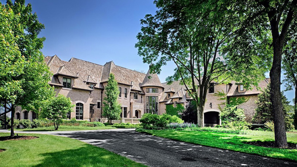 15 9 million lavish french country estate barrington for Chicago mansion for sale