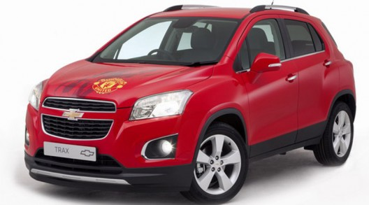 a unique, Chevrolet Trax, signed by the Manchester United players