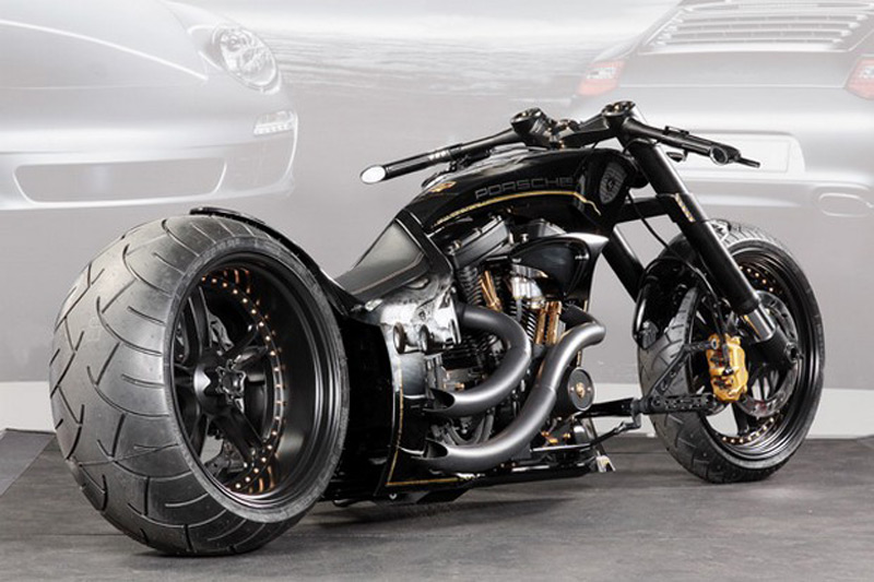 Porsche Custom Motorcycle: Porsche Tribute Bike Design By Custom-Wolf And Thunderbike