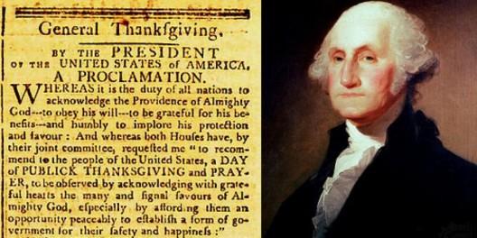 GEORGE WASHINGTON'S ORIGINAL THANKSGIVING PROCLAMATION