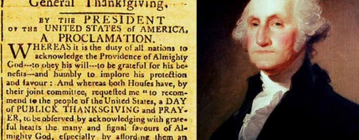 GEORGE WASHINGTON'S ORIGINAL THANKSGIVING PROCLAMATION