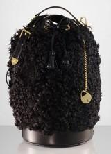 Ralph Lauren Black Shearling Duffle Bag