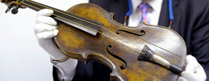 Violin played as Titanic sank sold at auction for $1.45 million