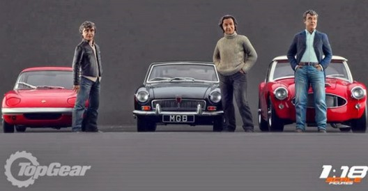 Jeremy Clarkson, James May and Richard Hammond in the ratio of 1:18 at a cost of $ 510 per set