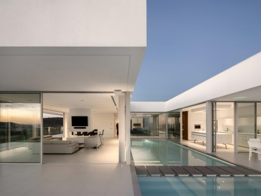 Suspended above the sea, an ultra-modern gem of incomparable beauty and sophistication