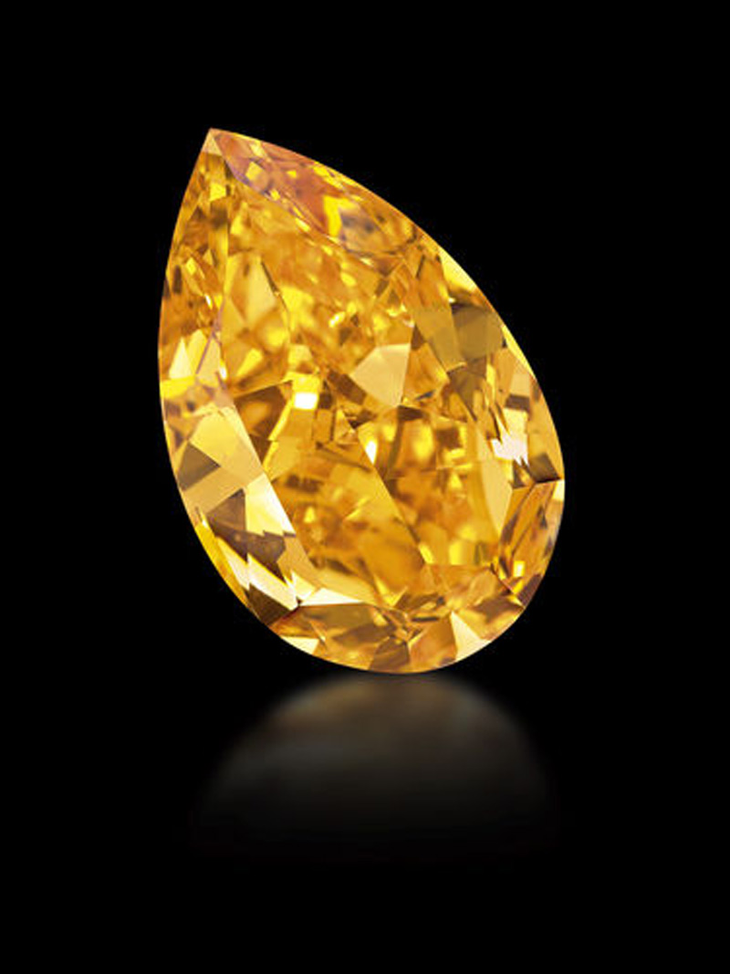 World S Largest Fancy Vivid Orange Diamond At Christie S