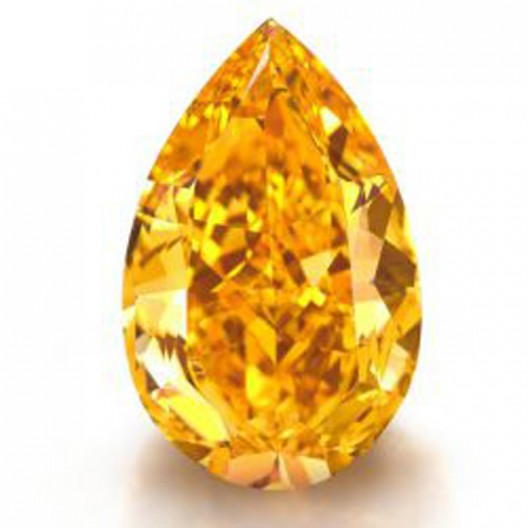 14 Carat Fancy Vivid Orange Diamond, World's Largest, Being Auctioned by Christie's