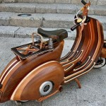 Wooden Vespa Motorcycle