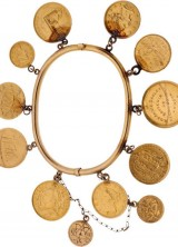 Unique Annie Oakley's Gold Coin Charm Bracelet at Heritage Auctions
