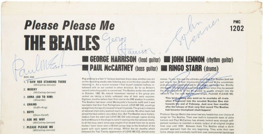 Beatles Signed Please Please Me Mono UK First Pressing LP
