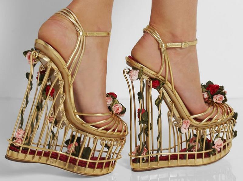 Dolce & Gabbana Cage Sandals - eXtravaganzi