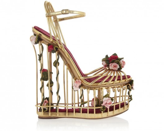 Dolce and Gabbana launch new unconventional leather-cage platforms heels