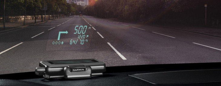 Never Get Lost Again With Garmin's Head-Up Display Windshield Projector