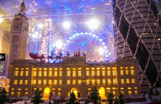 The world's largest LEGO snow globe dazzles London's Covent Garden Piazza