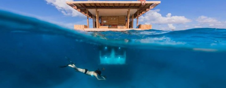 The Manta Resort at Pemba Island has an underwater room