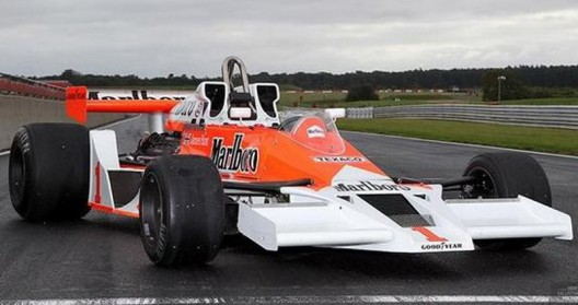 McLaren M26 Formula 1 car from 1977, driven by James Hunt