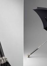 Alexander McQueen's Silver Skull Folding Umbrella for Men