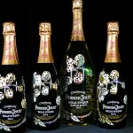 Cimon Art Designs Swarovski Studded Perrier-Jouët Bottles for Charity
