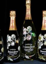Cimon Art Designs Swarovski Studded Perrier-Jouët Bottles for Charity