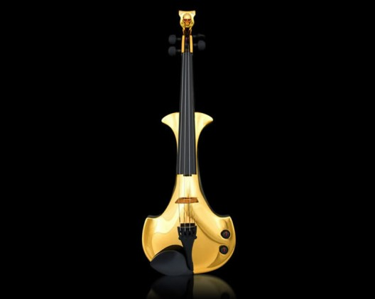 The world's first gold-plated violins are studded with precious stones and cost $2 million