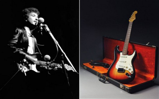 Bob Dylan's Fender Stratocaster guitar breaks auction record, sells for nearly $1 million