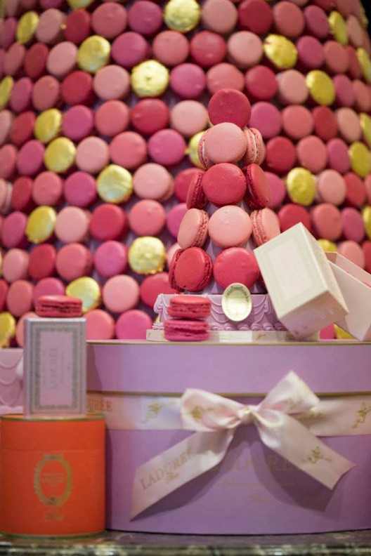 The Ladurée Macaron Christmas tree at the InterContinental Paris Le Grand