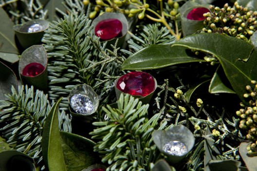 Studded with diamonds and rubies the world's most expensive Christmas wreath costs $4.6 million