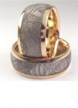 Meteorite, Deer Antler and Dinosaur Leg Bone Wedding Rings
