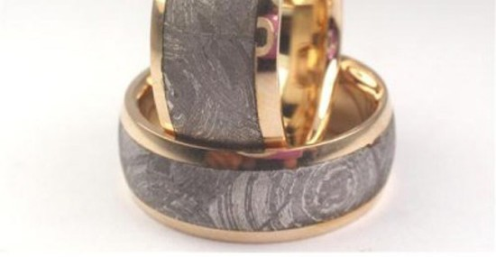 Forever and ever – Wedding bands made from Dinosaur Leg bone
