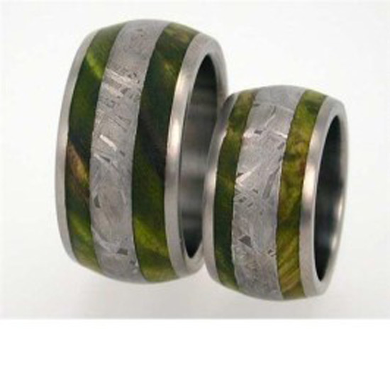 forever and ever wedding bands made from dinosaur leg bone - Dinosaur Bone Wedding Ring
