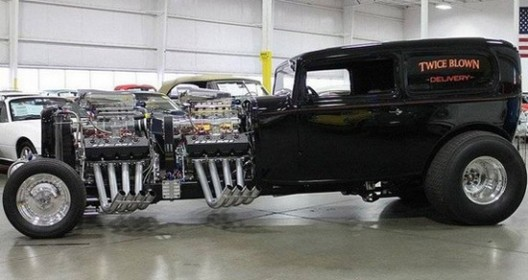 It is a hot rod, based on the model of the Ford Sedan from 1932
