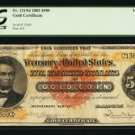 $500 1882 Gold Certificate Could Bring $2 Million at Heritage Auctions